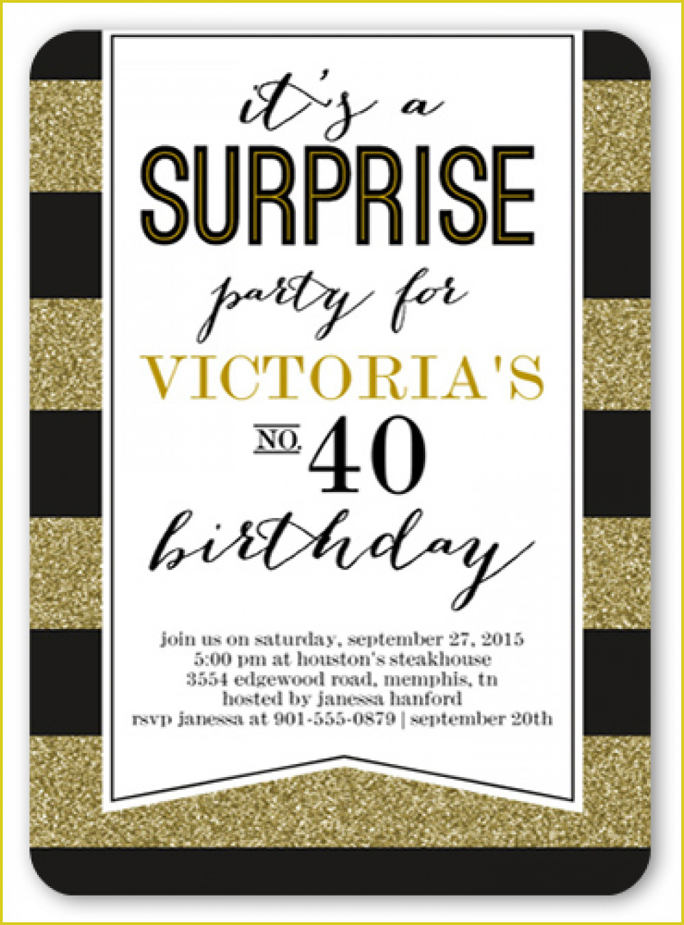 Interesting Surprise 40Th Birthday Invitations To Create Your Own - Free Printable Surprise 40Th Birthday Party Invitations