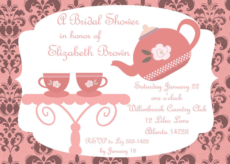 Invitation Archives - Hashtag Bg - Free Printable Kitchen Tea Invitation Templates