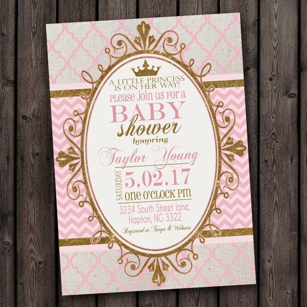 Invitation For Baby Shower, Brilliant Princess Themed Baby Shower - Free Printable Princess Baby Shower Invitations