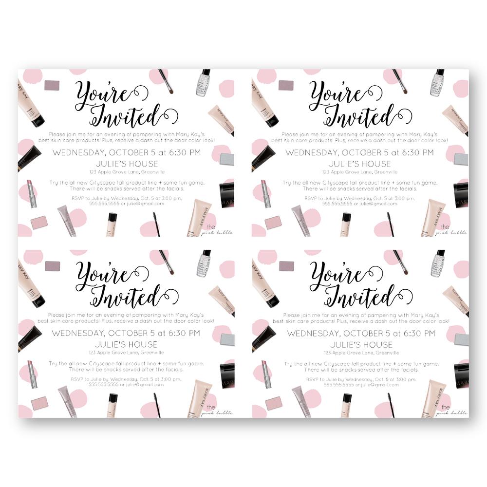 Invitation. Mary Kay Invite Templates - Techcommdood - Mary Kay Invites Printable Free