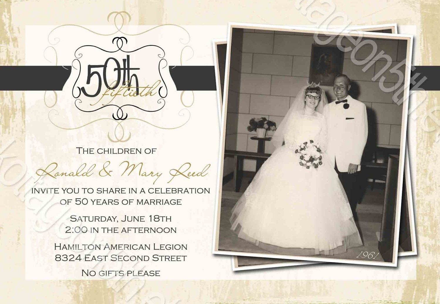 Invitations | 35Th | Anniversary Invitations, Anniversary Party - Free Printable 60Th Wedding Anniversary Invitations