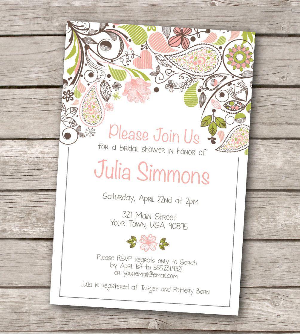 Invitations Templates Vintage Wedding Shower Invitations Etsy Baby - Free Printable Bridal Shower Invitations Templates
