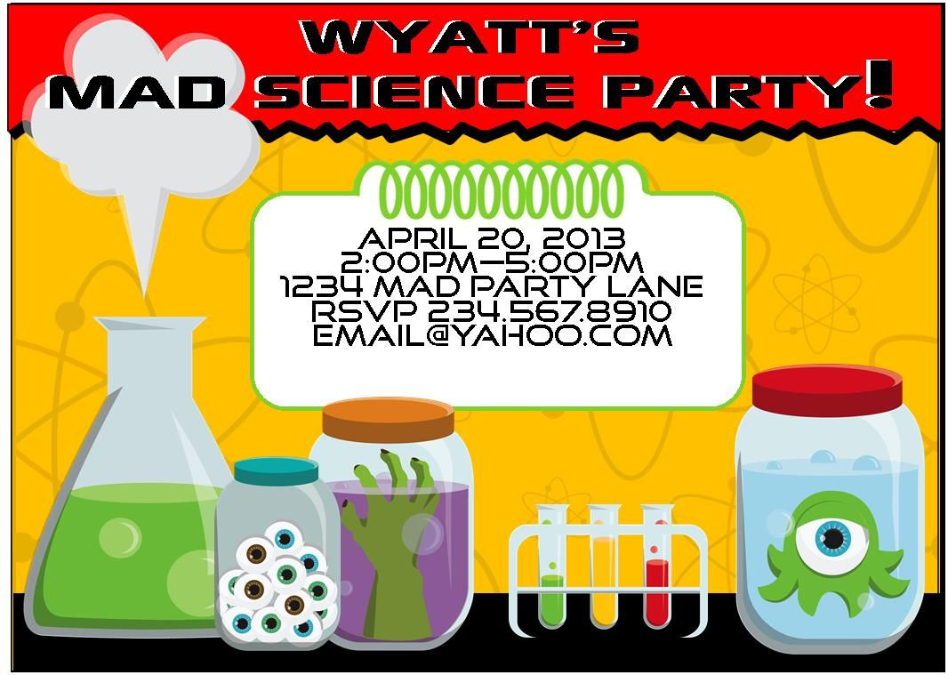 Invitepic Best Free Printable Science Birthday Party Invitations - Free Printable Science Birthday Party Invitations