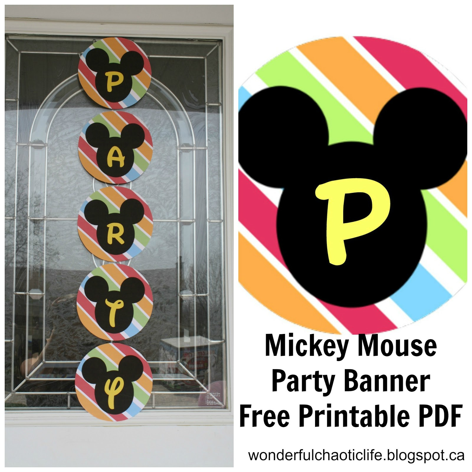It's My Wonderful Chaotic Life: Mickey Mouse Birthday Party Free - Free Printable Mickey Mouse Decorations