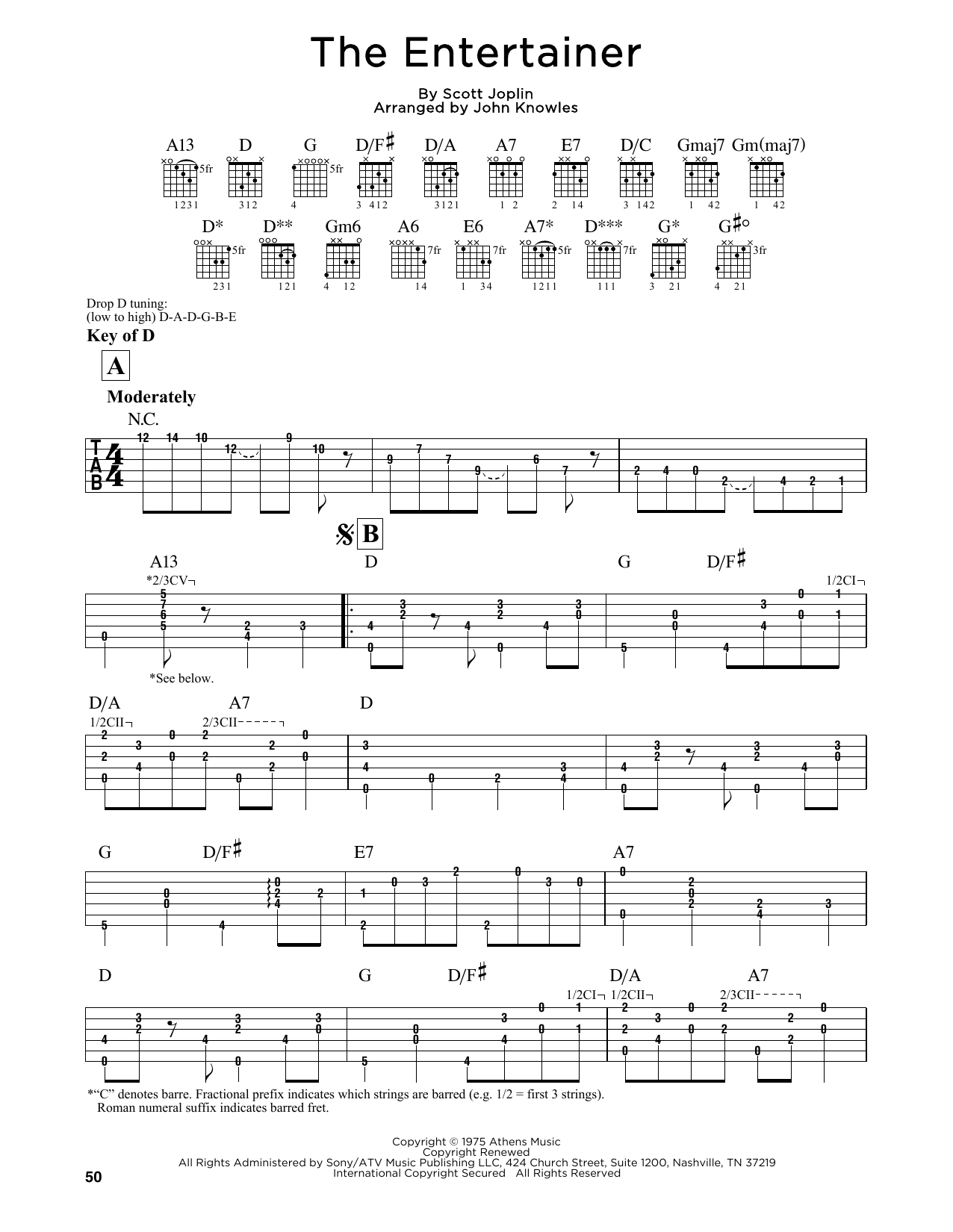 """John Knowles """"the Entertainer"""" Sheet Music Notes, Chords   Printable - Free Printable Sheet Music For The Entertainer"""