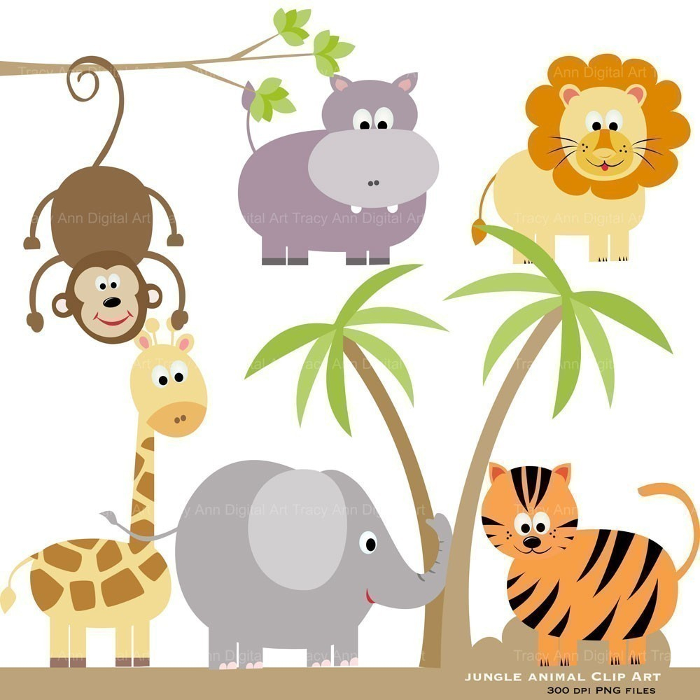 Jungle Clip Art Free Clipart Collection - Free Printable Baby Jungle Animal Clipart