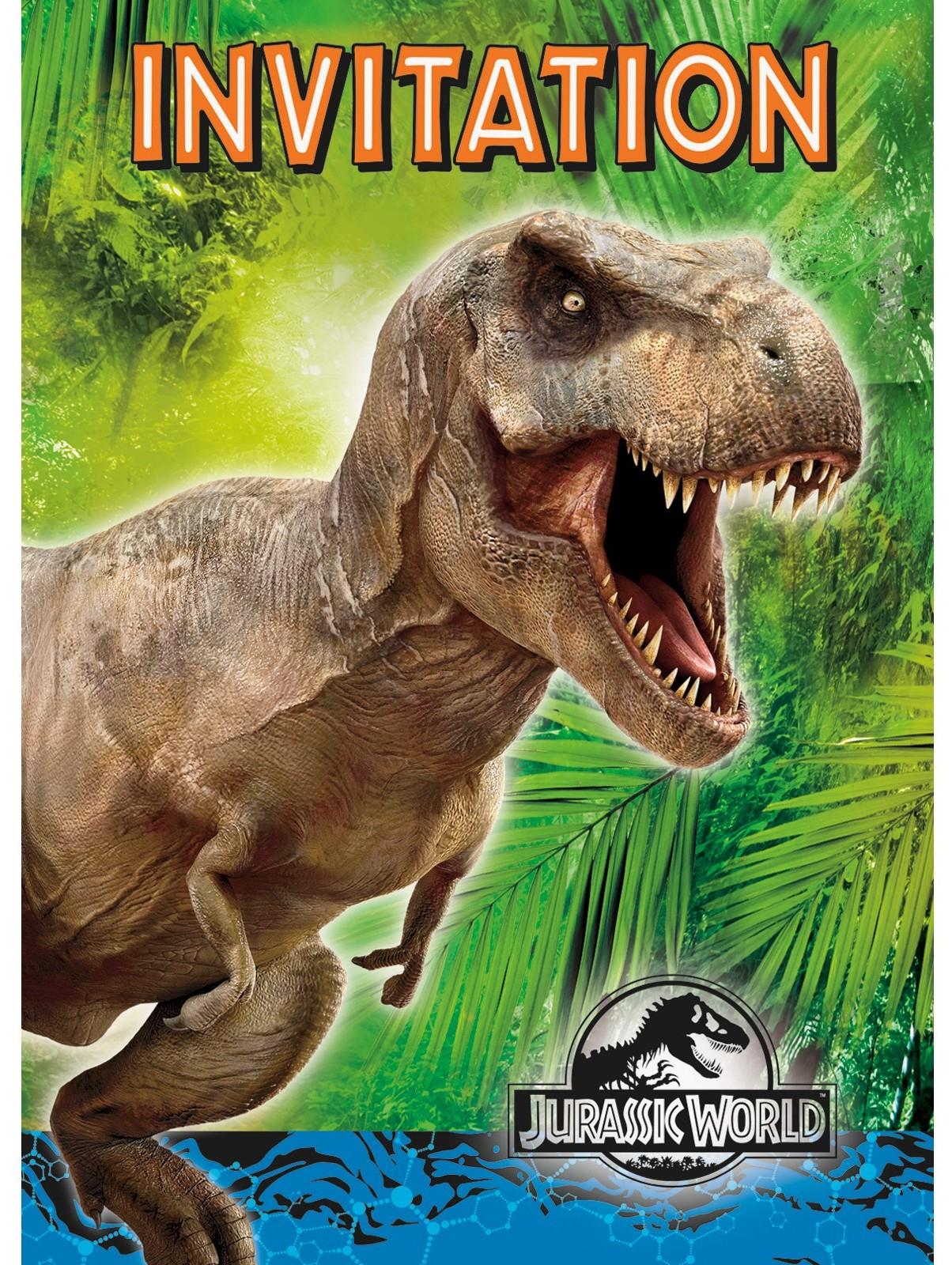 Jurassic World Dinosaur Party Planning Ideas & Supplies - Free Printable Jurassic Park Invitations