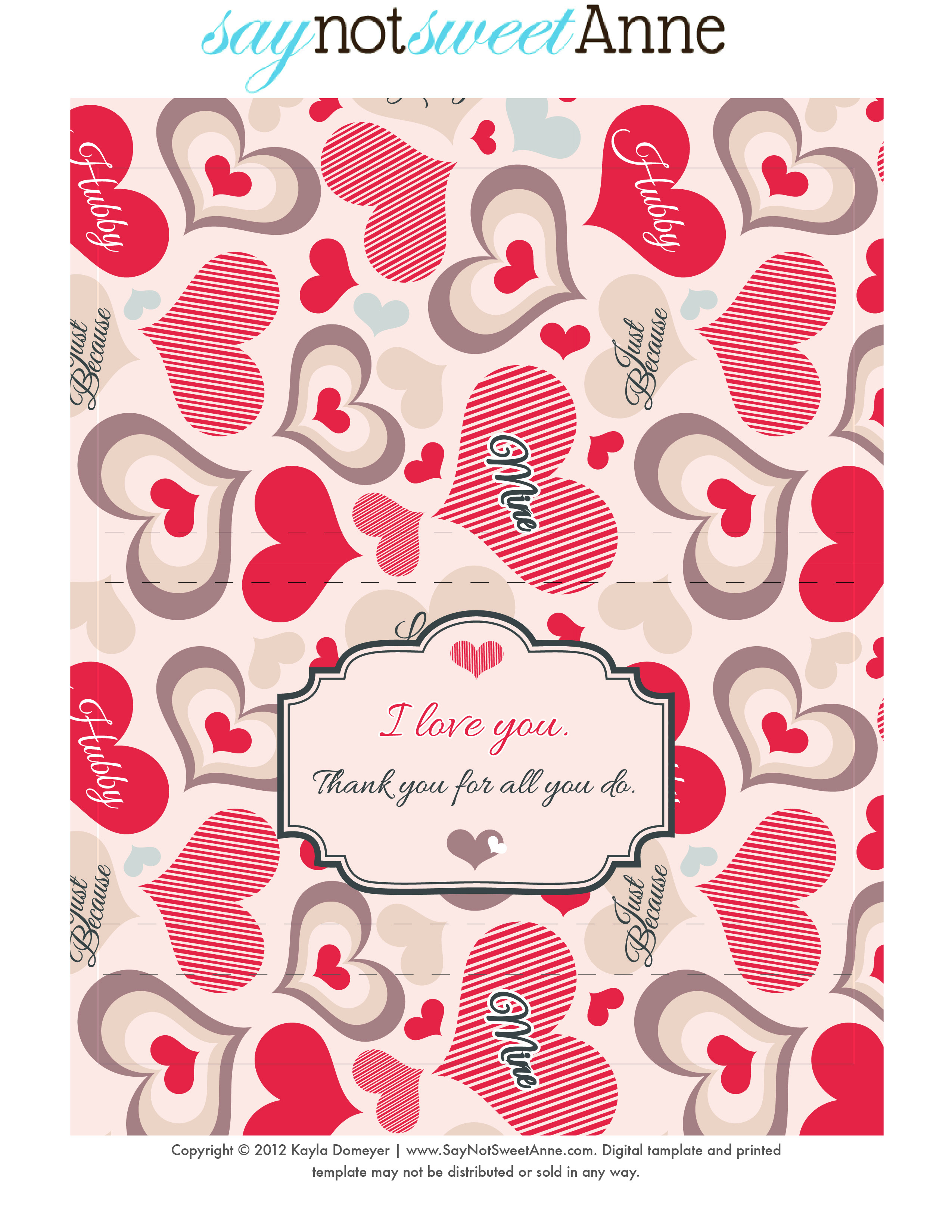 Just Because Candy [Free Printable] - Sweet Anne Designs - Free Printable Candy Bar Wrappers