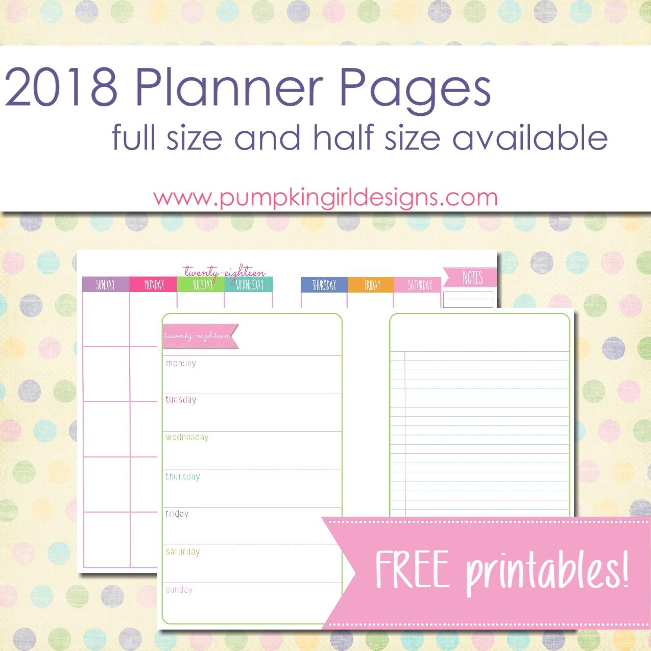 Justlorri@gmail | Pumpkingirl Designs - Free Printable 5.5 X8 5 Planner Pages