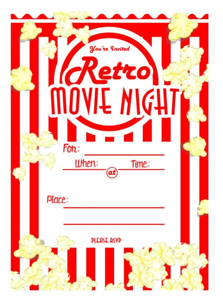 Free Printable Movie Themed Invitations