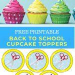 Kara's Party Ideas Free Printable Back To School Cupcake Toppers   Free Printable Cupcake Toppers