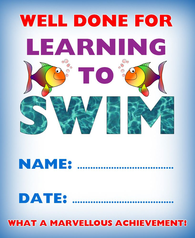 Kids Certificate For Learning To Swim | Swim | Pinterest | Swim - Free Printable Swimming Certificates For Kids