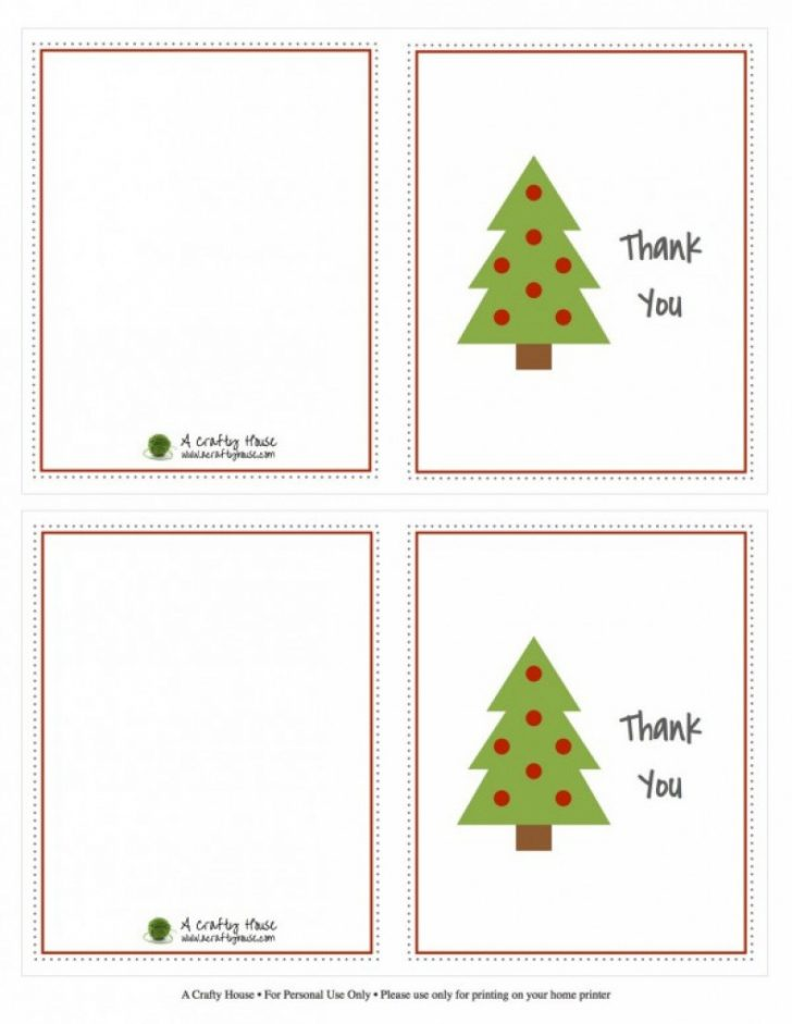 Free Christmas Thank You Notes Printable