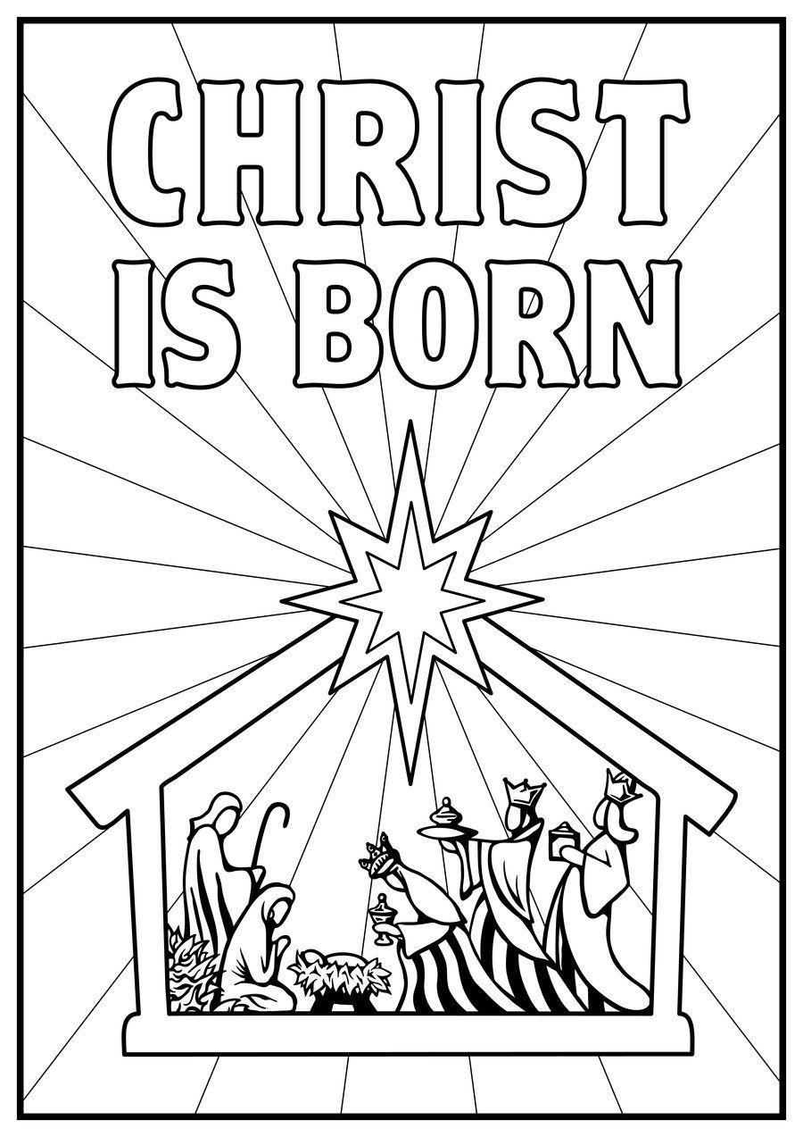 Kids Color Pages Manger Scene | Nativity Story Coloring Pages - Free Printable Nativity Story