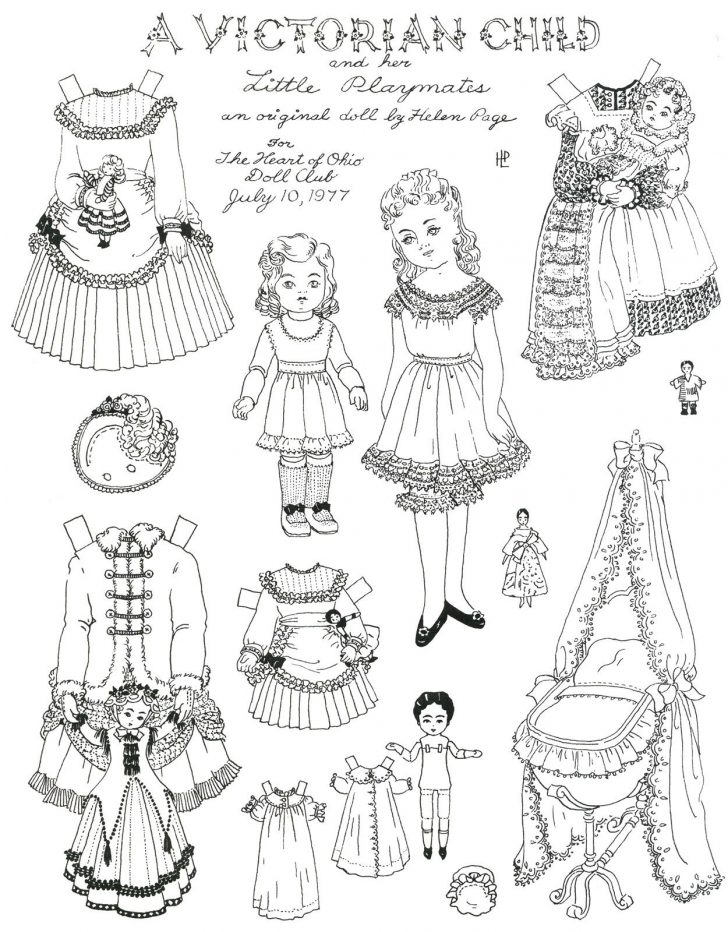 Printable Paper Dolls To Color Free