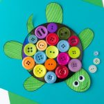 Kids Will Love Making This Cute Turtle Craft With Upcycled Cds   Free Printable Button Templates