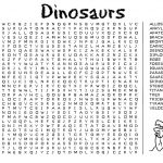 Kids Word Search Puzzle | Kiddo Shelter   Free Printable Dinosaur Word Search