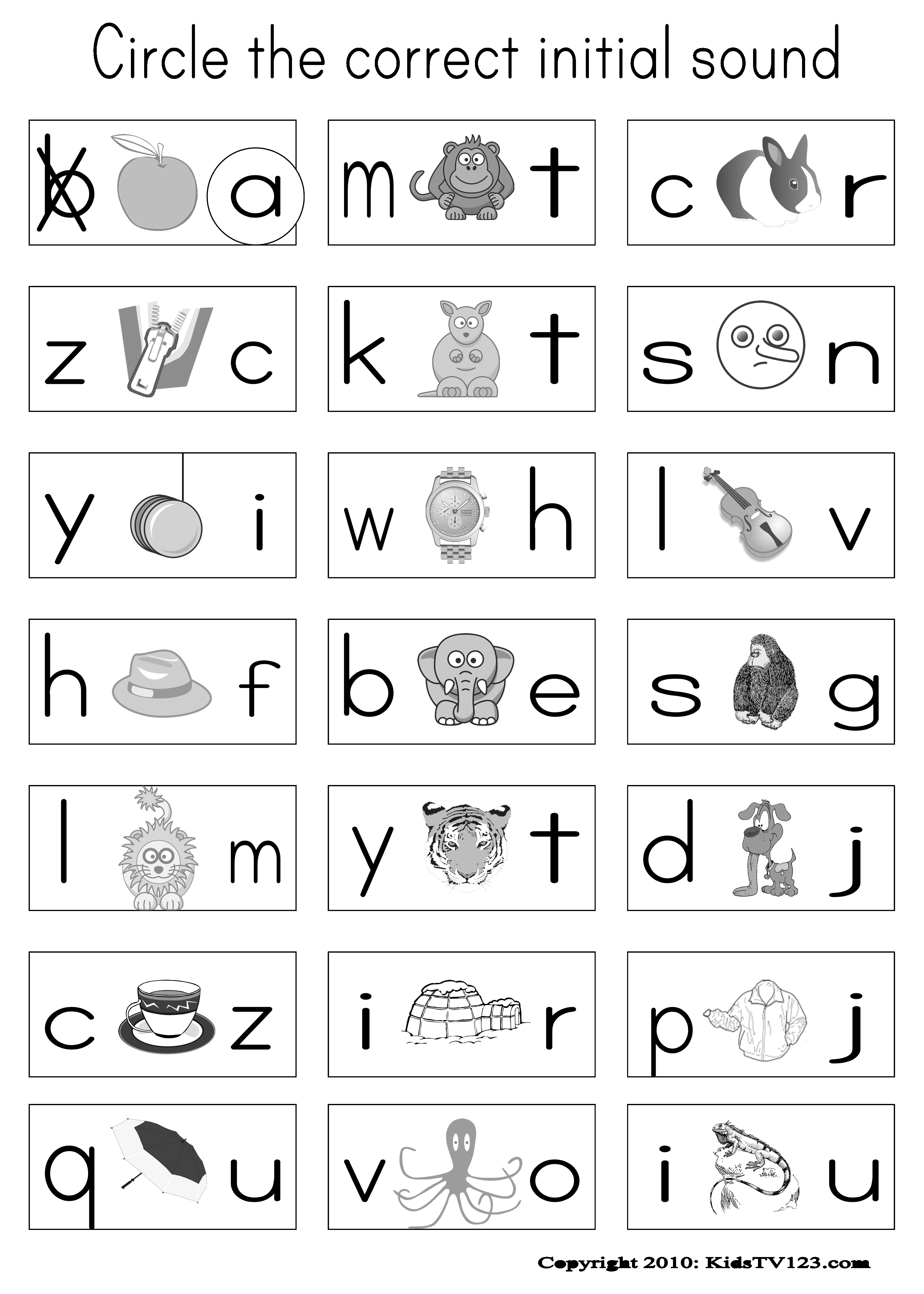 Kidstv123 - Phonics Worksheets | Classroom-Reading & Phonics - Free Printable Phonics Worksheets