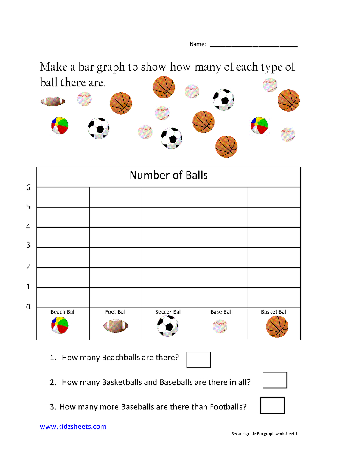 Kidz Worksheets: Second Grade Bar Graph Worksheet1 | School - Free Printable Bar Graph