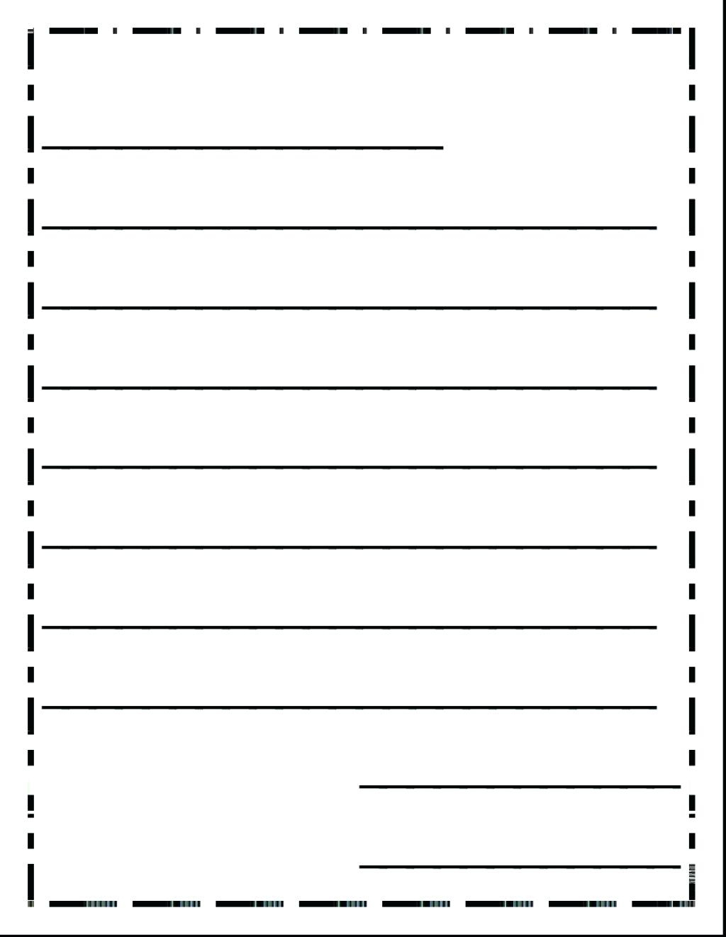 Kinder Writing Paper Kinder Handwriting Paper Grade Handwriting - Free Printable Handwriting Paper For First Grade