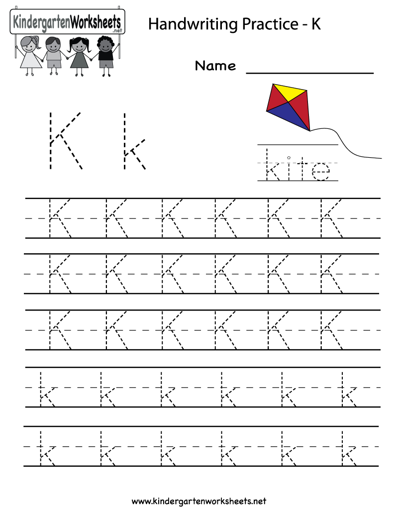 Kindergarten Letter K Writing Practice Worksheet Printable - Free Printable Letter K Worksheets