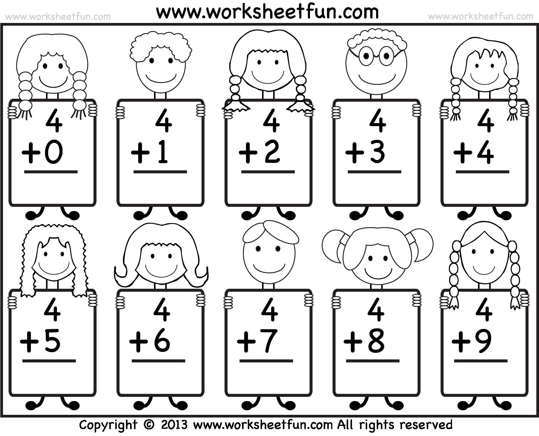 Kindergarten Math Png Black And White Transparent Kindergarten Math - Free Printable Math Worksheets For Kindergarten
