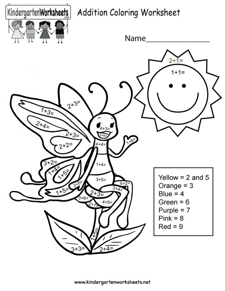 Free Printable Math Coloring Sheets