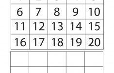 Free Printable Numbers 1 20 Worksheets