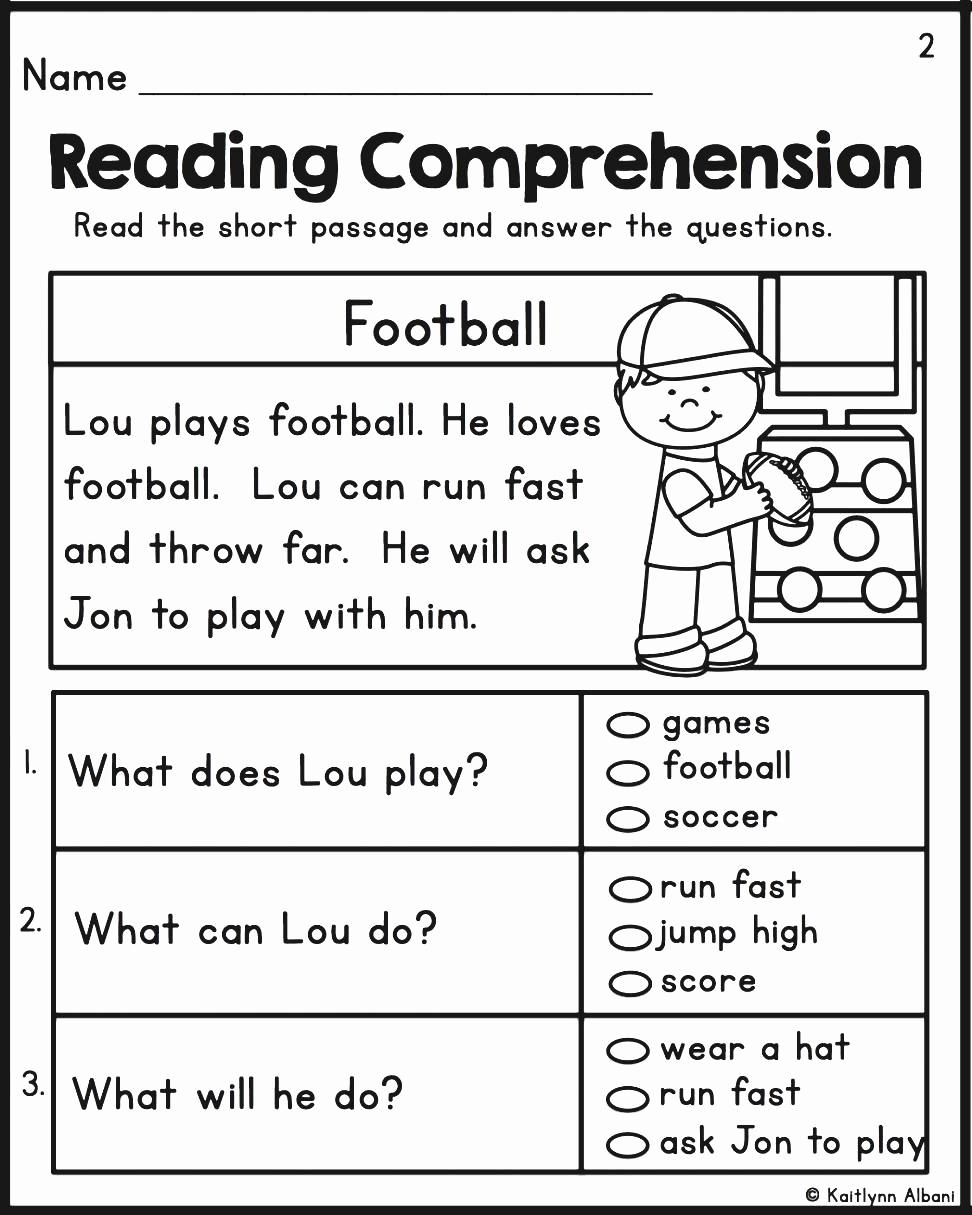 Kindergarten Reading Comprehension Worksheets Pdf Kindergarten - Free Printable Reading Comprehension Worksheets For Kindergarten