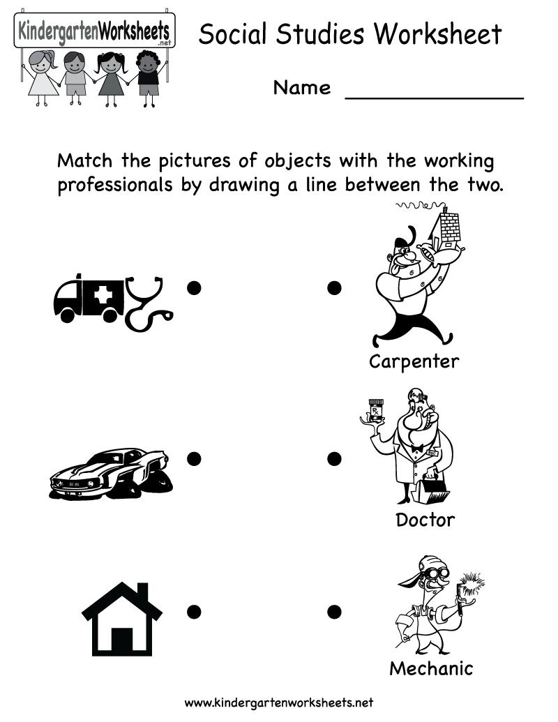 Kindergarten Social Studies Worksheet Printable   Worksheets (Legacy - Free Printable Social Studies Worksheets