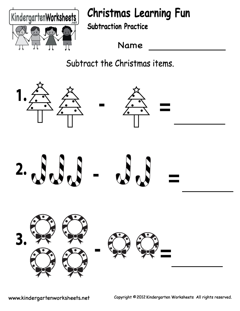 Kindergarten Worksheets Printable |  Subtraction Worksheet - Free - Free Printable Kindergarten Addition And Subtraction Worksheets