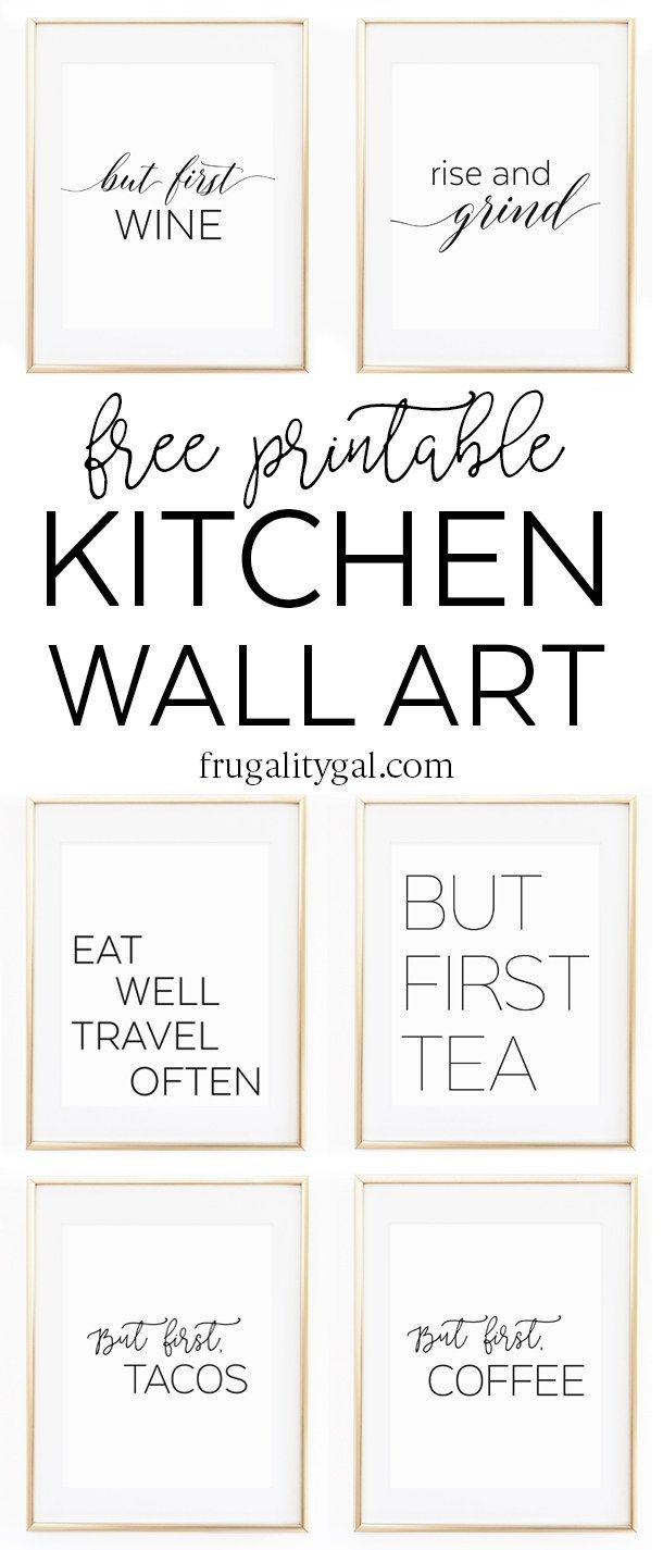 Kitchen Gallery Wall Printables | Free Printable Wall Art - Free Printable Decor