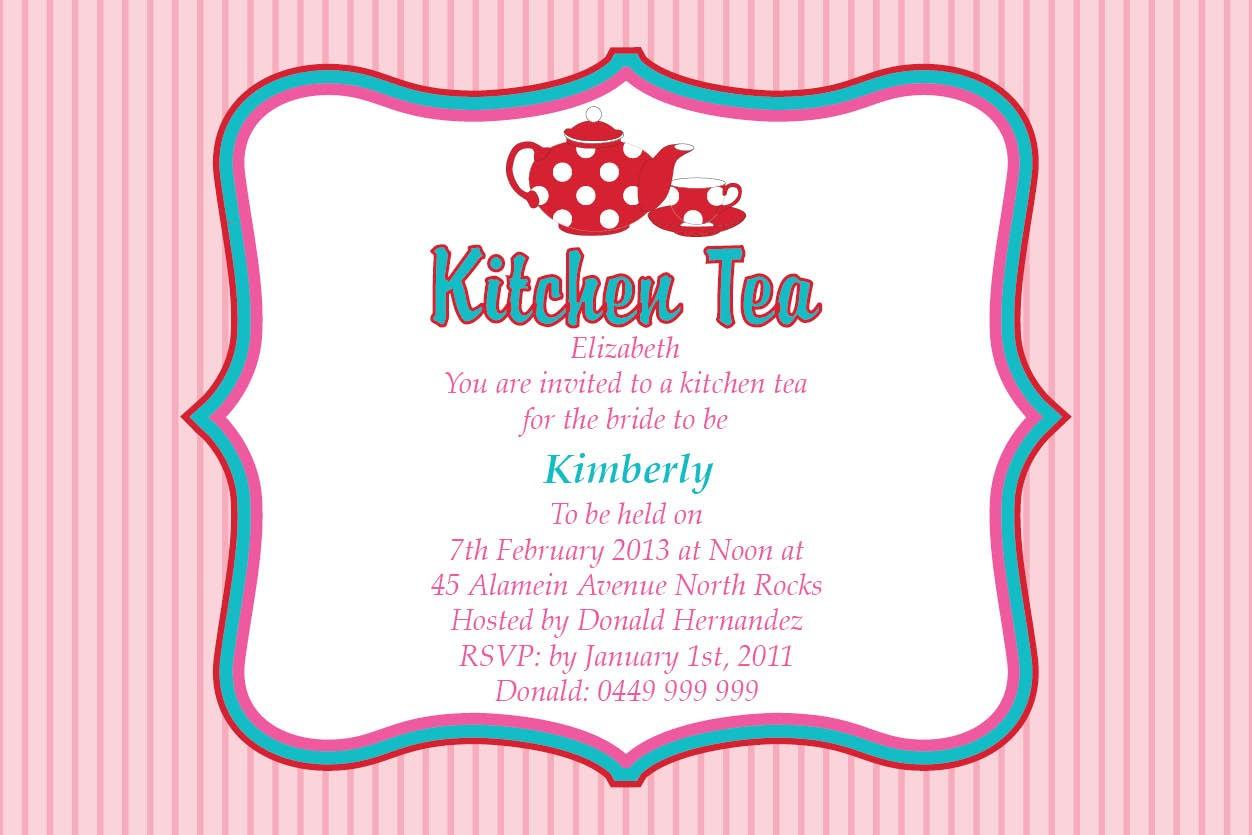 Kitchen Tea Party Invitation Ideas | Kitchen Sohor - Free Printable Kitchen Tea Invitation Templates