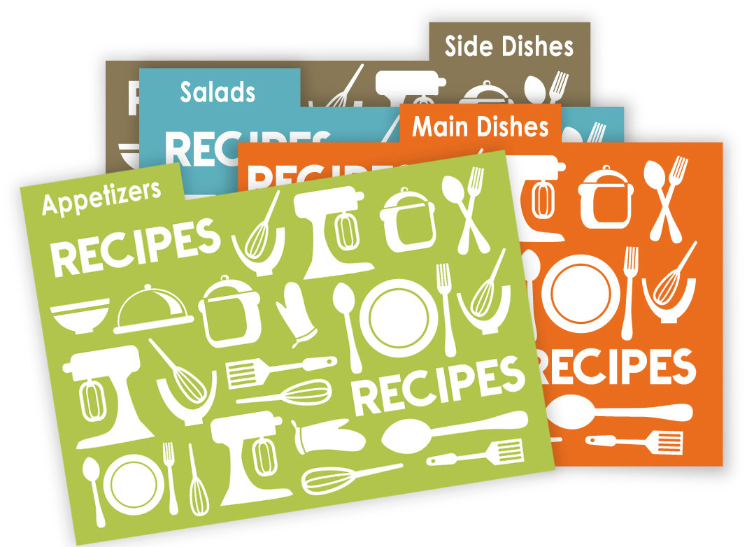 Kitchen Theme Recipe Card Dividers 4X6 Printable No 836 | Etsy - Free Printable Recipe Dividers