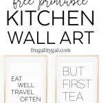 "Kitchen Wall Art   8X10"" Set Of Six Prints   Free Printable   Free Printable Wall Art 8X10"