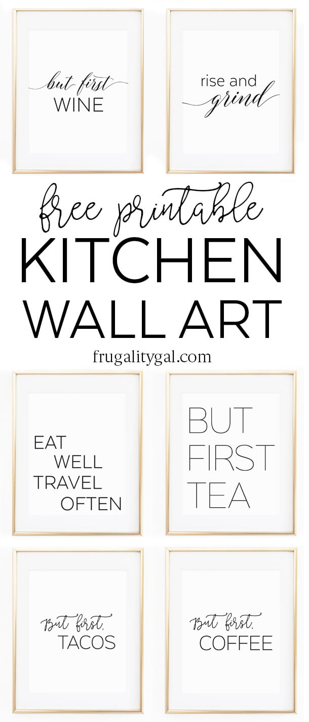 "Kitchen Wall Art - 8X10"" Set Of Six Prints - Free Printable - Free Printable Wall Decor"