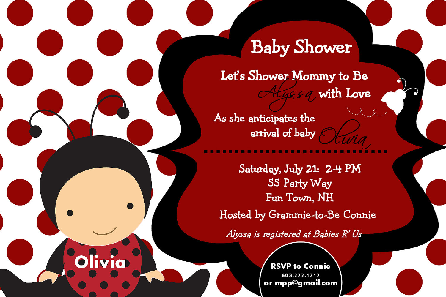 Ladybug Baby Shower Invitations Ladybug Baby Shower Invitations Of - Free Printable Ladybug Baby Shower Invitations Templates