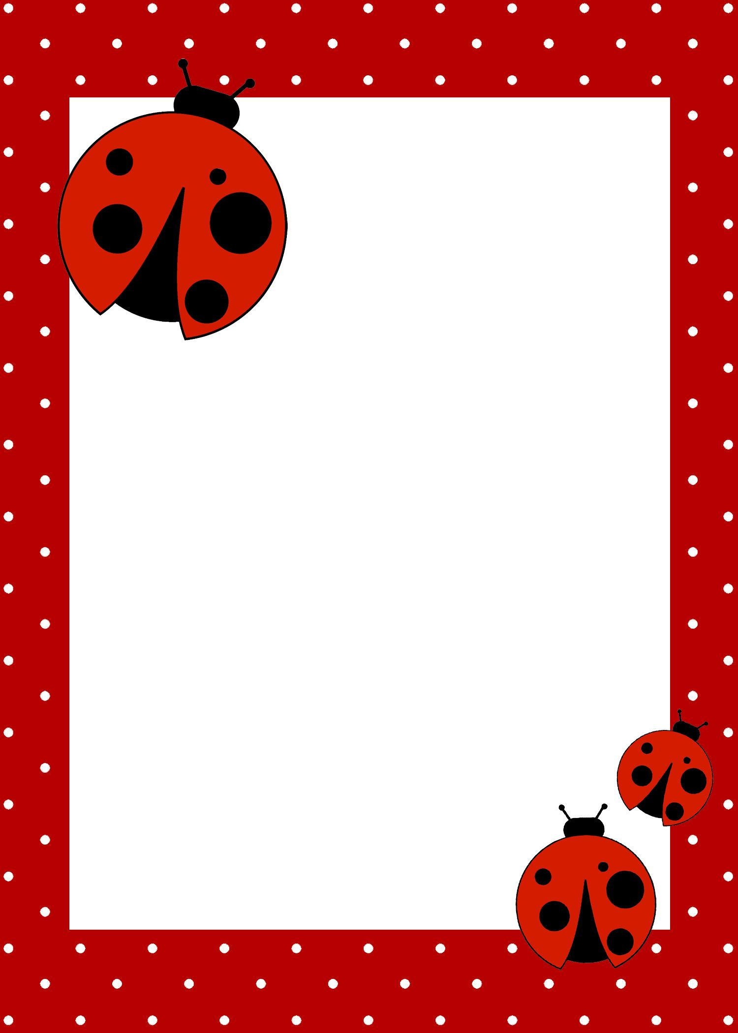 Ladybug Birthday Party With Free Printables | Birthday Party Ideas - Free Printable Ladybug Baby Shower Invitations Templates