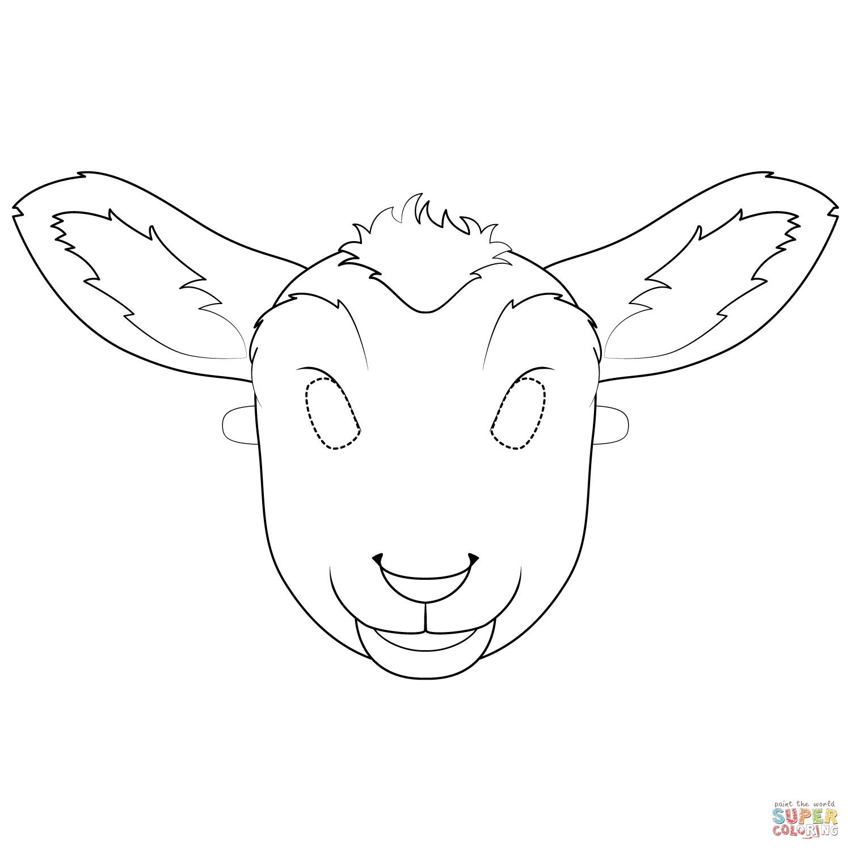 Lamb Mask Coloring Page   Free Printable Coloring Pages - Free Printable Sheep Mask
