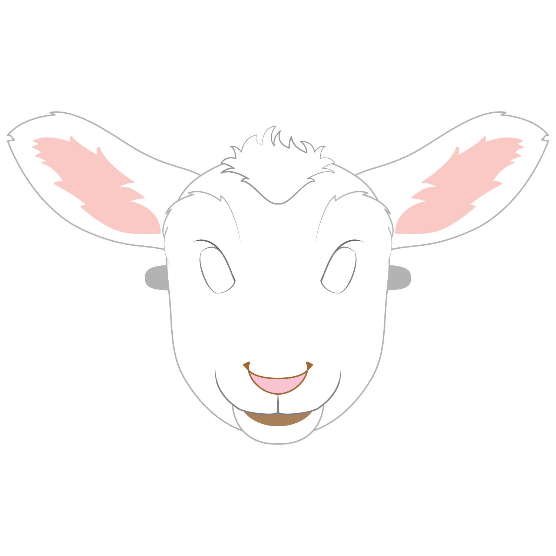 Lamb Mask Template   Free Printable Papercraft Templates - Free Printable Sheep Mask