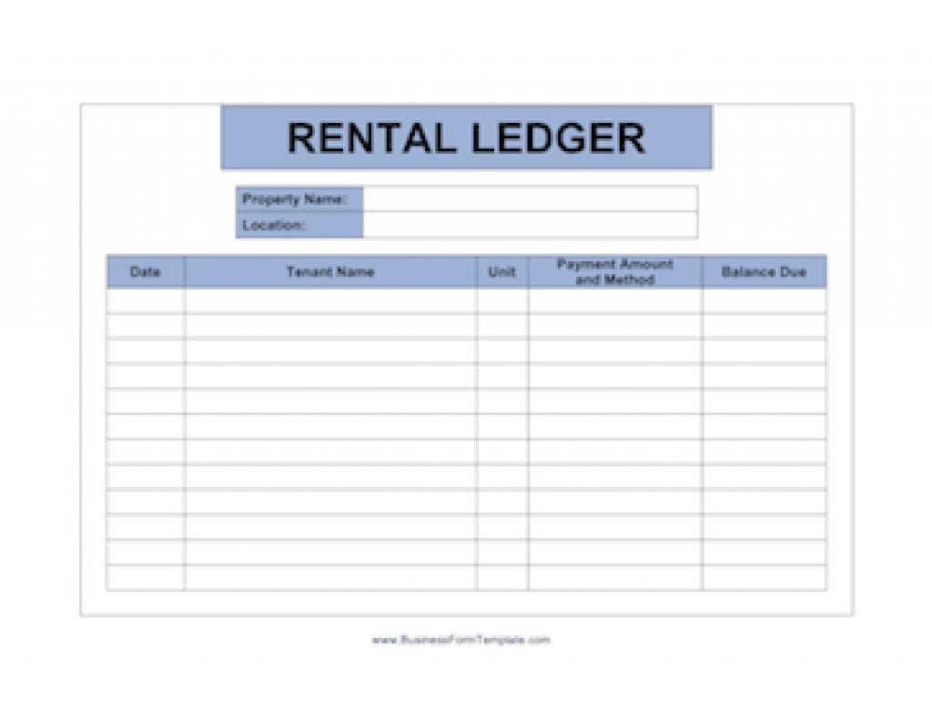 Landlord Documents Templates Regarding Free Printable Rent Ledger - Free Printable Rent Ledger