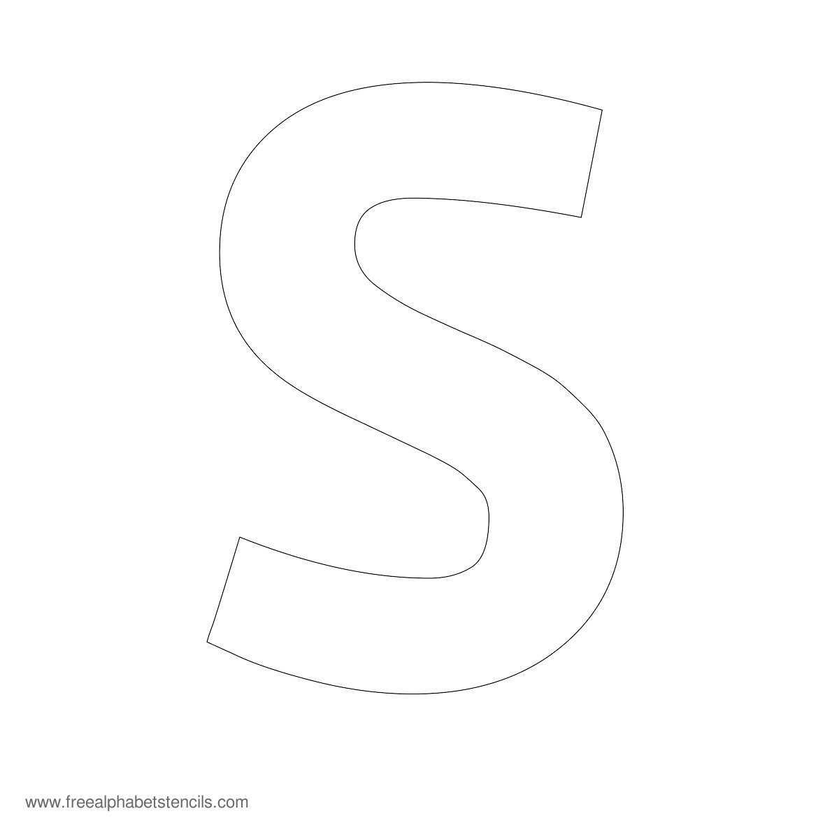 Large Alphabet Stencils | Freealphabetstencils - Free Printable Calligraphy Letter Stencils