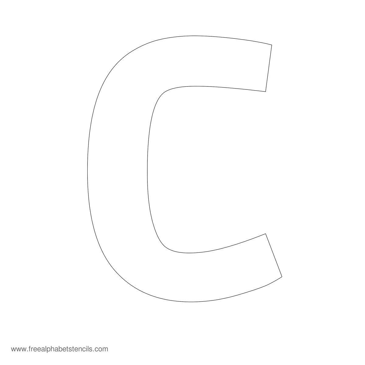 Large Alphabet Stencils   Freealphabetstencils - Printable Alphabet Letters Free Download