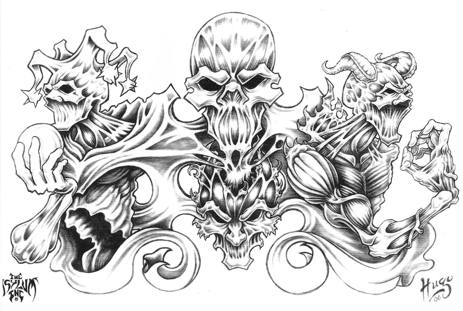 Large Free Printable Tattoo Designs   Best Quarter Sleeve Tattoo - Free Printable Tattoo Flash
