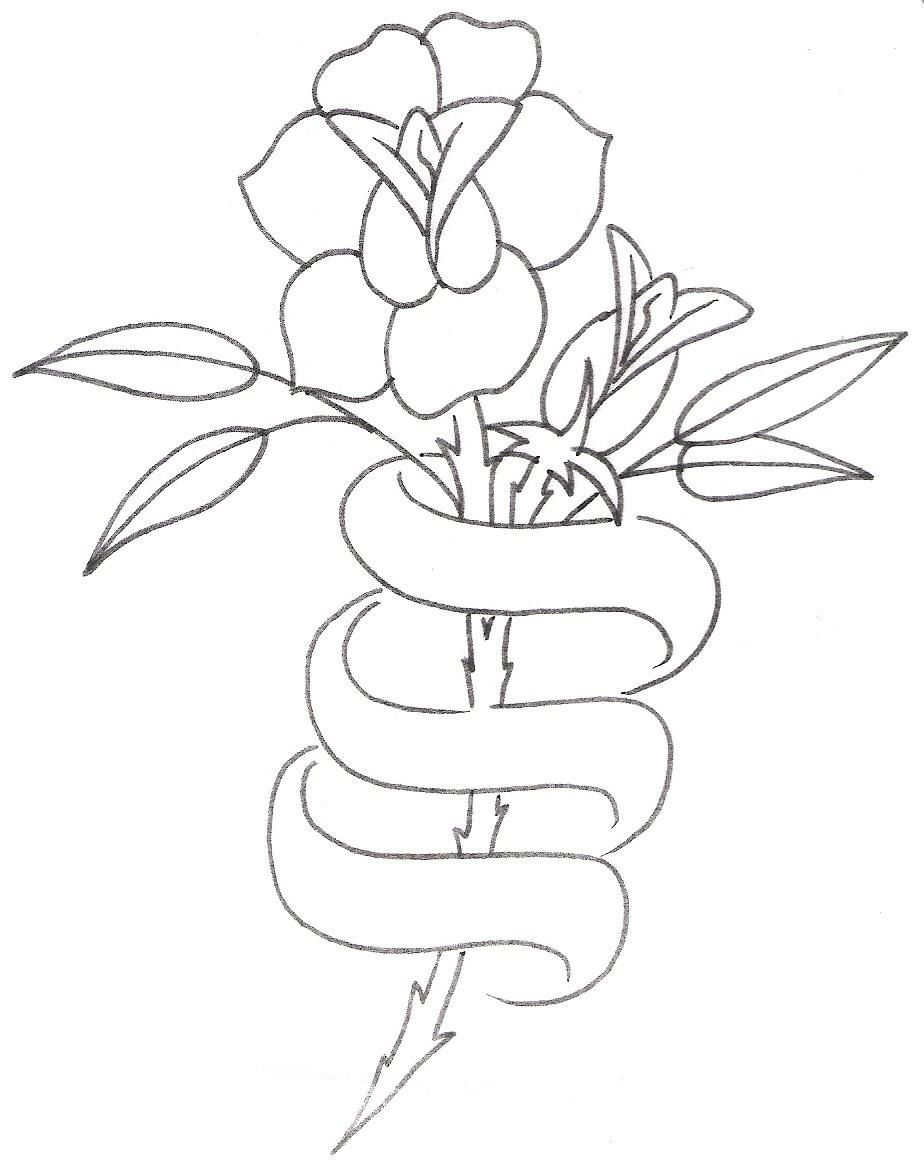 Large Free Printable Tattoo Designs | Tattoo Design,rose With Ribbon - Free Printable Tattoo Designs