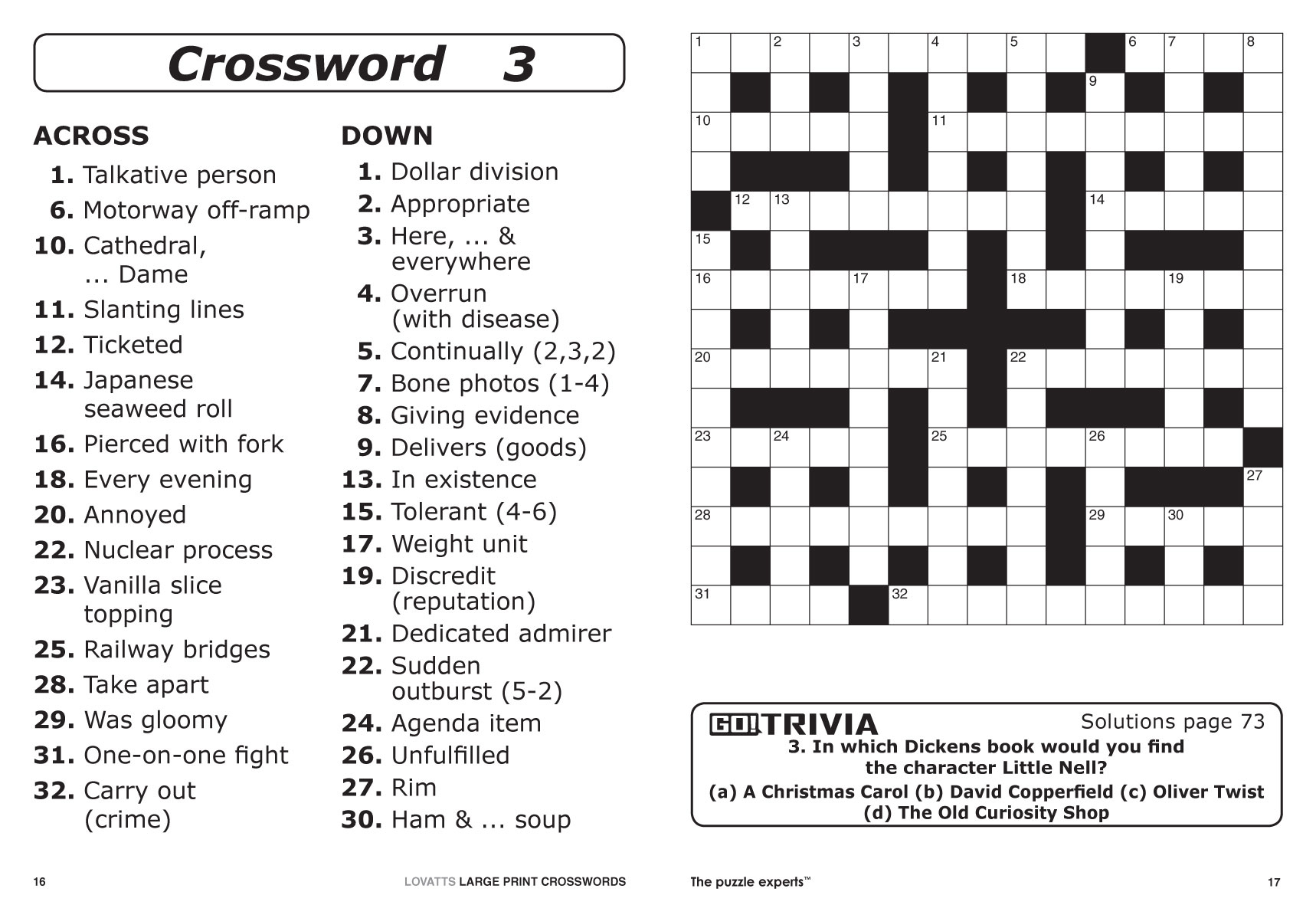 Large Print Crosswords Magazine - Lovatts Crossword Puzzles Games - Free Printable Word Search Puzzles Adults Large Print