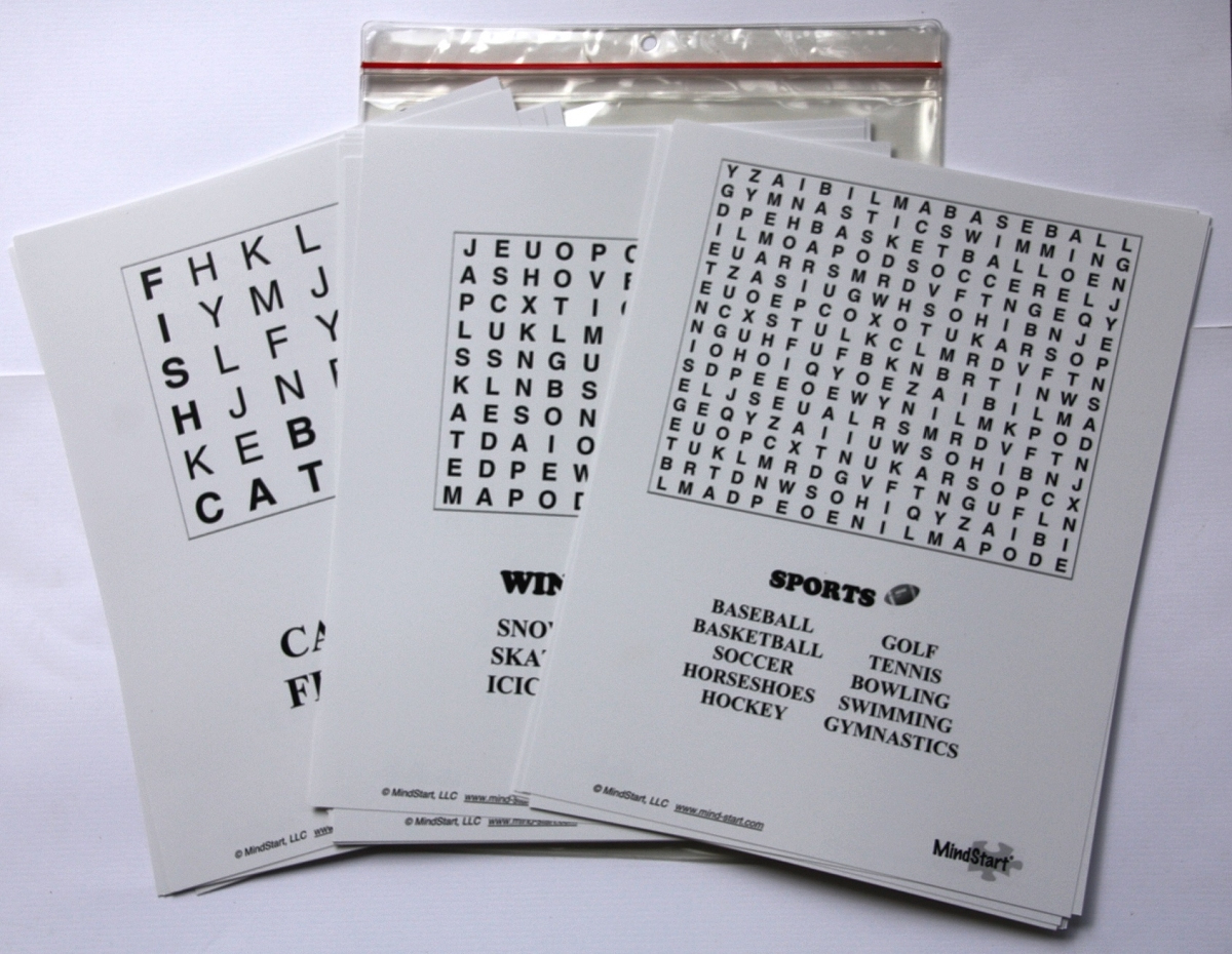 Large Print Word Search Games For Memory & Brain Of Seniors & Dementia - Free Large Printable Word Searches