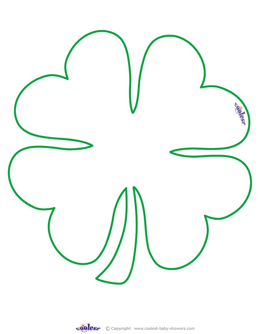 Large Printable Clover Coolest Free Printables … | Tattoo Canvas - Four Leaf Clover Template Printable Free