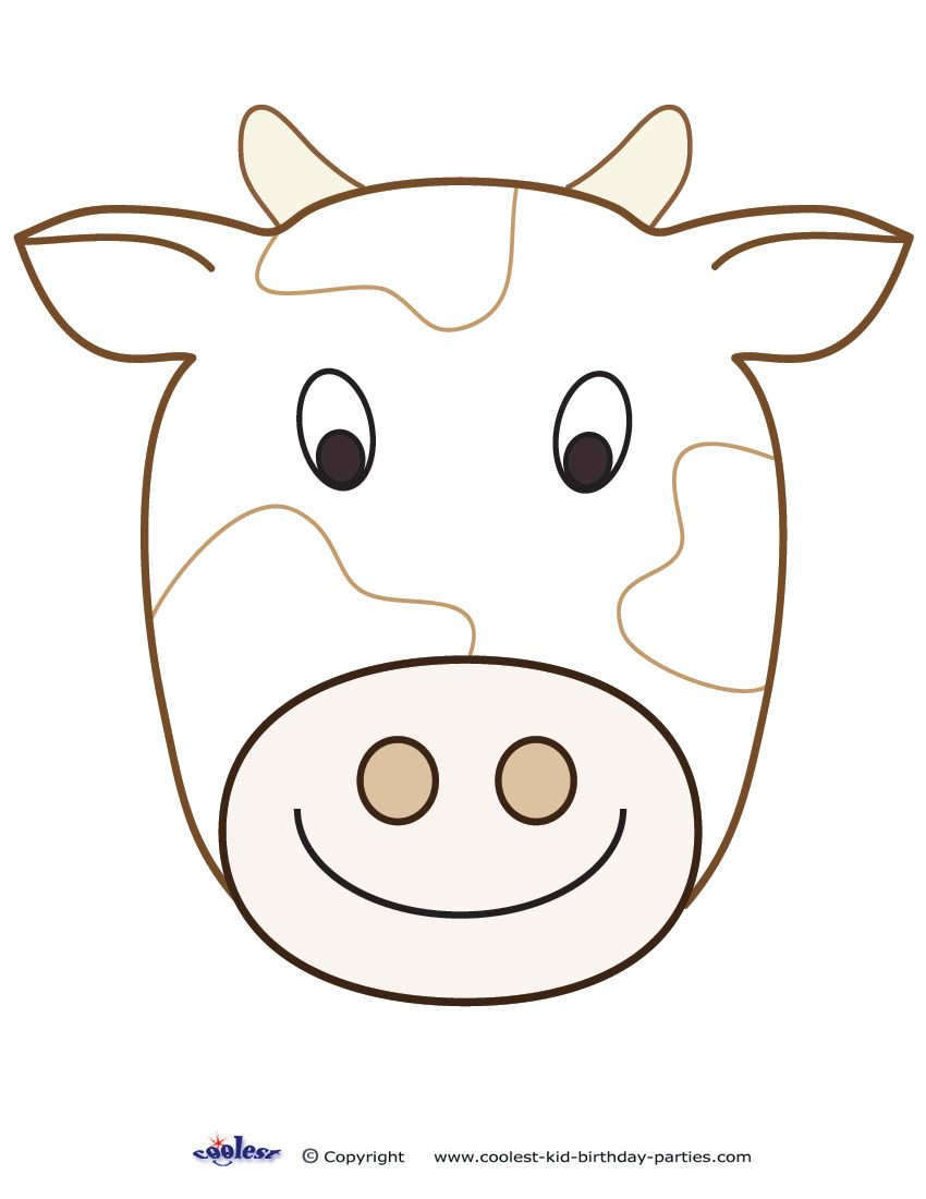 Large Printable Cow Decoration - Coolest Free Printables   Cow - Free Printable Hippo Mask