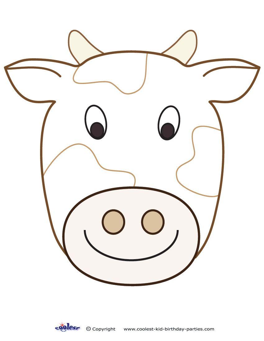 Large Printable Cow Decoration - Coolest Free Printables | Cow - Free Printable Paper Masks